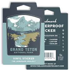 Grand Teton National Park Sticker The Landmark Project
