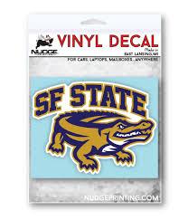 San Francisco State University Logo Car Decal Nudge Printing