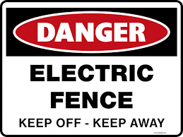 Danger Signs Electric Fence Keep Off Keep Away Property Signs