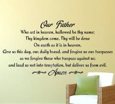 Our Father Lords Prayer Wall Sticker Religious God Scripture Pray Amen Wall Decal Decor Living Room Bedroom Kitchen Decal Eb047 Wall Stickers Aliexpress