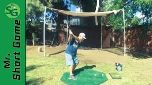 how to build a golf hitting net golf