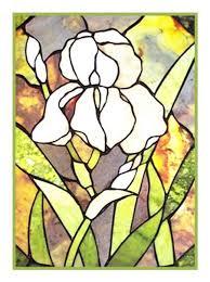 white iris inspired by the work of art