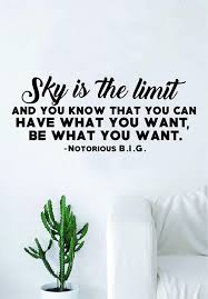 com sky is the limit original quote wall decal sticker