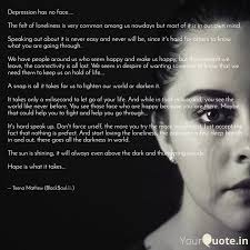 depression has no face quotes writings by teena mathew