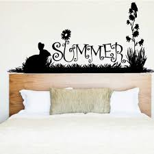 The Holiday Aisle Summer Grass And Flowers Wall Decal Wayfair