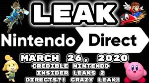 HUGE Nintendo Direct Leak March 26 ...