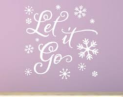 Let It Go Decal Etsy