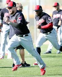 Cleveland Indians Roberto Perez and Abraham Almonte, during ...