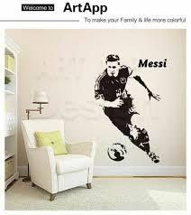Lionel Messi Barcelona Wall Sticker Goals Wallpaper Football Soccer Barca Argent For Sale Online Ebay