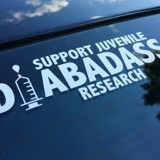 6 Diecut Sticker Decal Support Juvenile Diabadass Research