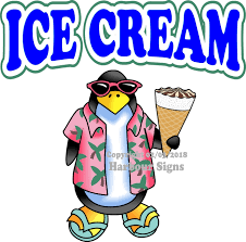 Ice Cream Vinyl Decal Penguin Food Concession Harbour Signs