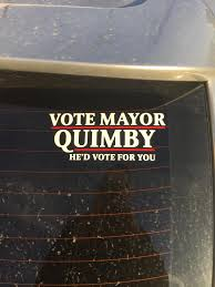 Made A New Car Decal Vote For Mayor Quimby He D Vote For You Imgur