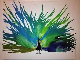 Peacock Crayon Art Con Imagenes Arte Con Ceras Tecnicas De Arte