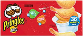 pringles snack stacks original sour
