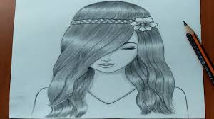 رسم بنات سهل تعليم رسم بنت بقلم الرصاص بطريقة سهلة وبسيطة