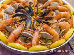 seafood paella recipe panlasang pinoy