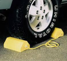 recycled plastic wheel chocks parking