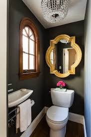 bold color in the powder room tiny