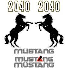 Mustang 2040 Decals Stickers Set Acedecals