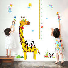 2 Sets Height Charts For Kids Diy Growth Chart Ruler Vinyl Decal Kit Cartoon Height Ruler For Boy Girl Room Wall Decal Sk9044 Height Chart Vinyl Decalfor Kids Aliexpress