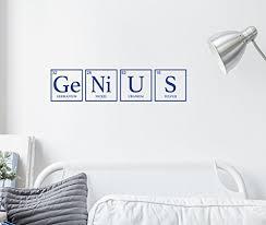 Children Wall Decor Genius Vinyl Decor Wall Decal Customvinyldecor Com