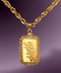 pamp rosa g fine gold bar necklace nprr
