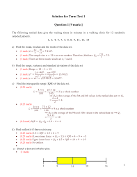 Test 10 February 2019 Questions And Answers Stat 1501 Studocu
