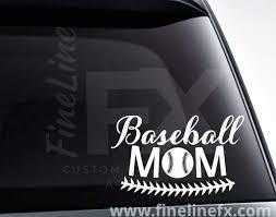 Baseball Mom Baseball Vinyl Decal Sticker