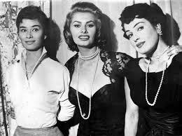 Da sin., Lea Massari, Sophia Loren e Silvana Pampanini negli anni ...