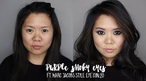 purple smoky eyes ft marc jacobs style