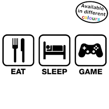 Gaming Stickers Gamer Gift For Car Wall Window Laptop Eat Etsy