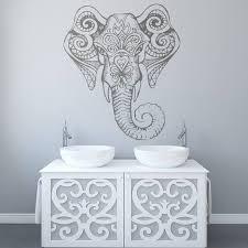 Elephant Mandala Vinyl Decal Mirror Decals Wall Design Etsy