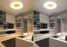 contemporary circle ring led ceiling