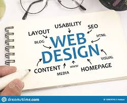 web design internet technology words quotes concept stock photo