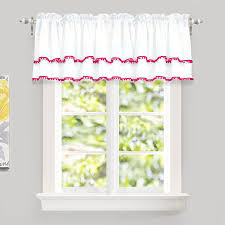 Driftaway Pom Pom Ruffle Window Curtain Valance For Kids Room Rod Pocket One Panel 52 X18 Plus 2 Header Walmart Com Walmart Com