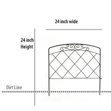 Garden Accents 2 Ft X 2 Ft Black Steel Garden Fence Edging In The Garden Fencing Department At Lowes Com