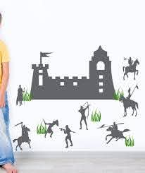 Castle And Knights Boys Bedroom Wall Art Nursery Room Wall Decals Playroom Wall Decals