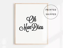 black and white prints handwriting poster french quotes