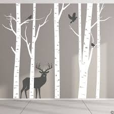 Aspen Trees And Wildlife Wall Decal