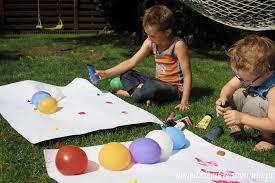 Malowanie balonami wodnymi - Moje Dzieci Kreatywnie