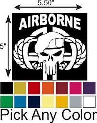 82nd Airborne Punisher Vinyl Car Truck Window Decal Window Sticker Ebay