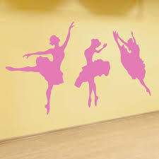 Set Of Three Dancing Ballerinas Kids Rooms Vinyl Wall Art Decal For Kids Rooms Preschools Kindergartens Elementary Schools Dance Rooms Dance Classes Dana Decals