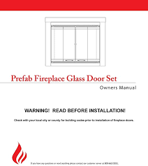 fireplace glass doors for marco
