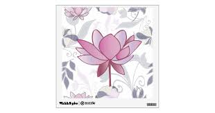 Pink Lotus Wall Decal Zazzle Com