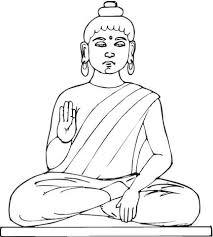 Standbeeld Van Boeddha Kleurplaat Gratis Kleurplaten Printen