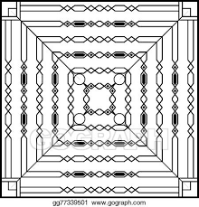 Vector Art Wrought Iron Grill Gate Door Fence Window Railing Design Clipart Drawing Gg77339501 Gograph