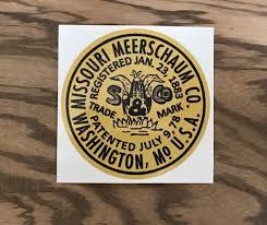 Missouri Meerschaum Vintage Vinyl Sticker Corncobpipe Com