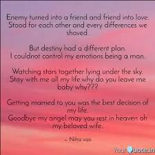 enemy turned into a frien quotes writings by niha mani