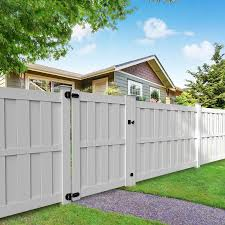Freedom Birchdale 6 Ft H X 5 Ft W White Vinyl Flat Top Shadowbox Fence Gate In The Vinyl Fence Gates Department At Lowes Com