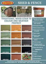 Shed And Fence Colour Chart Protek Wood Stain